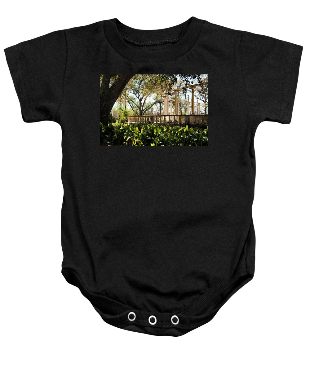 Kathleen K Parker Baby Onesie featuring the photograph Popp's Fountain by Kathleen K Parker