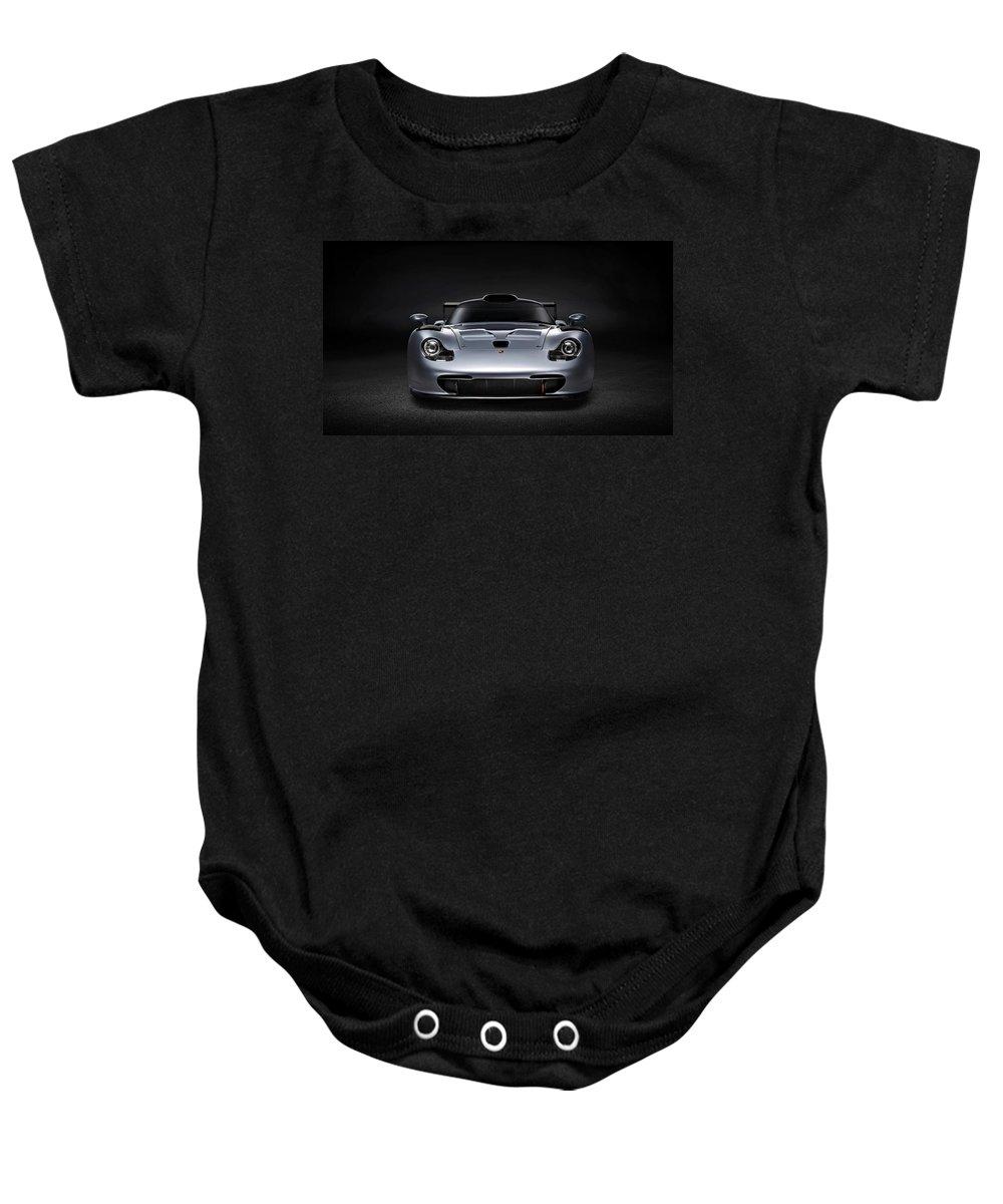 Porsche 911 Evolution Baby Onesie featuring the photograph Porsche 911 Evolution by Movie Poster Prints