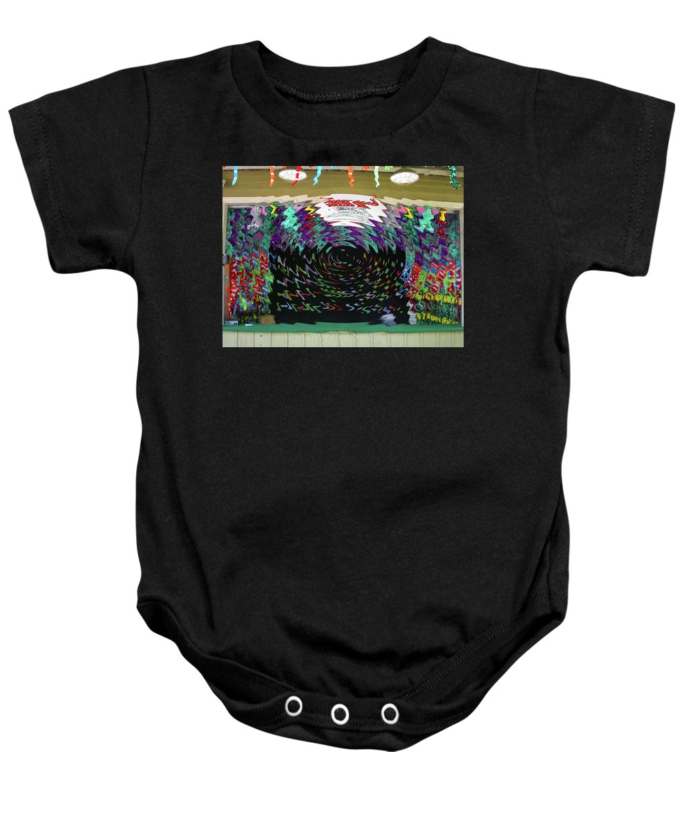 Carnival Baby Onesie featuring the digital art Portal To Another Dimension by Anne Cameron Cutri
