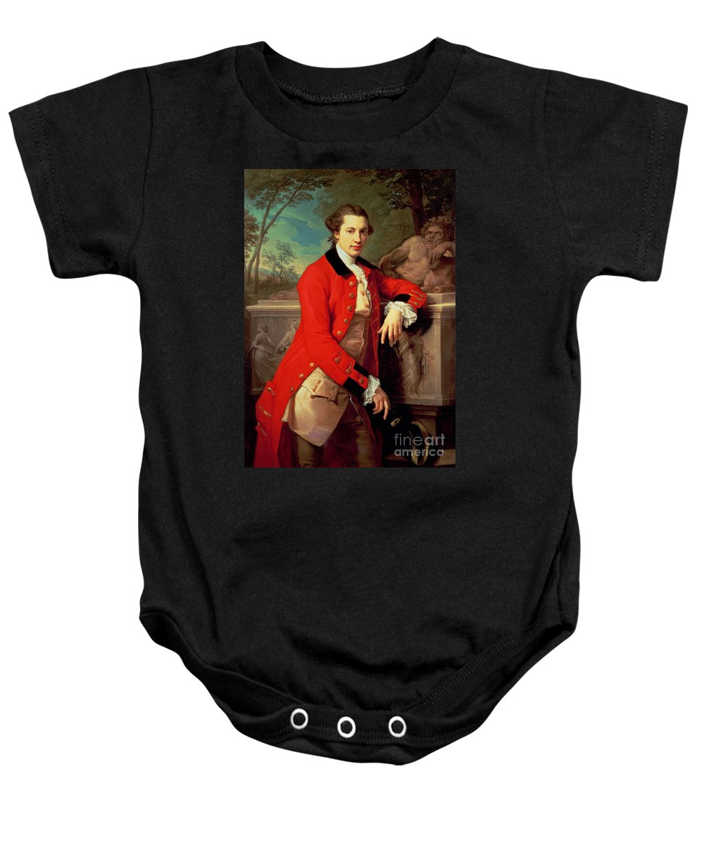 Portrait Baby Onesie featuring the painting Portrait Of Edmund Rolfe by Pompeo Girolamo Batoni