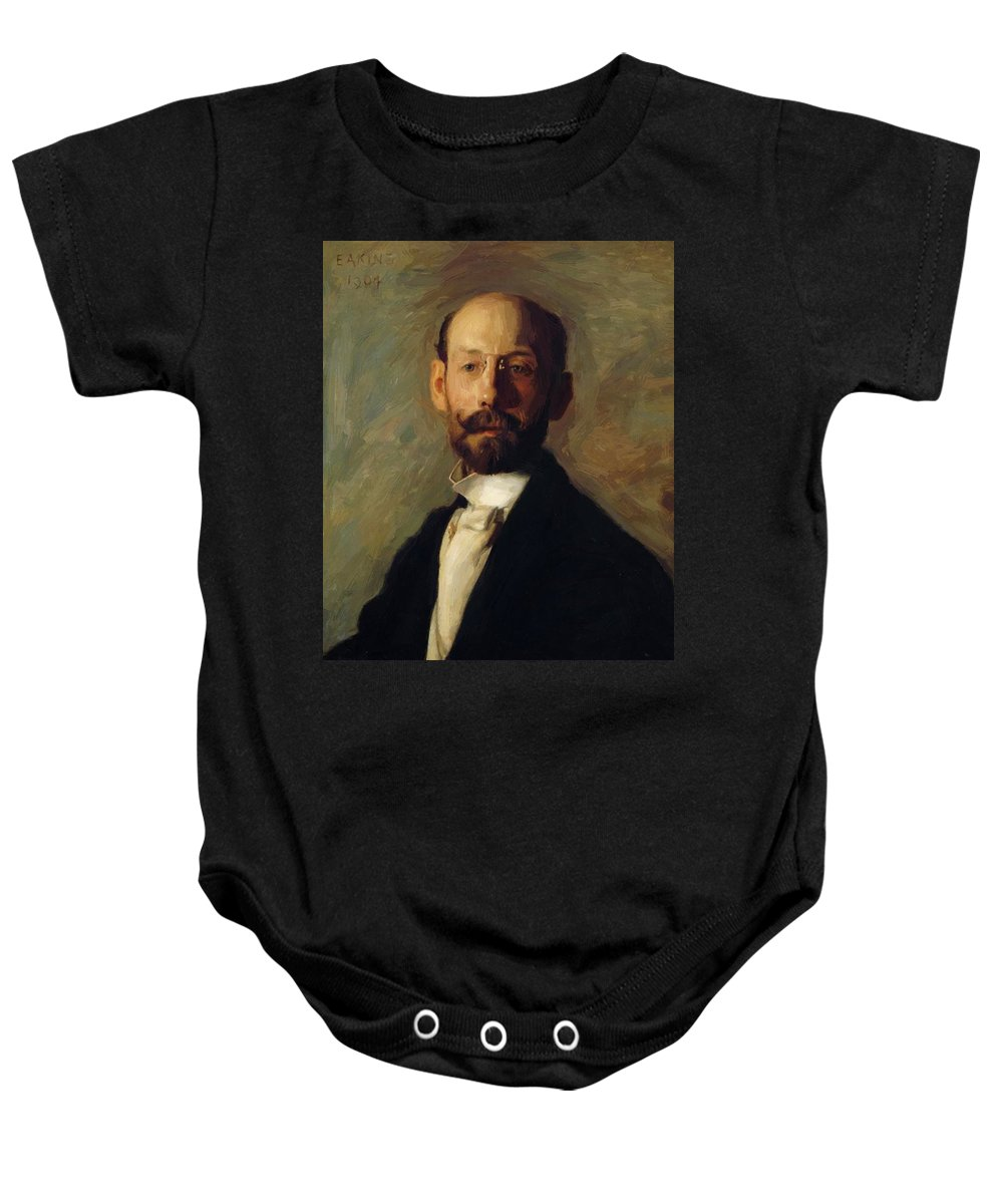 Portrait Baby Onesie featuring the painting Portrait Of Frank B A Linton 1904 by Eakins Thomas