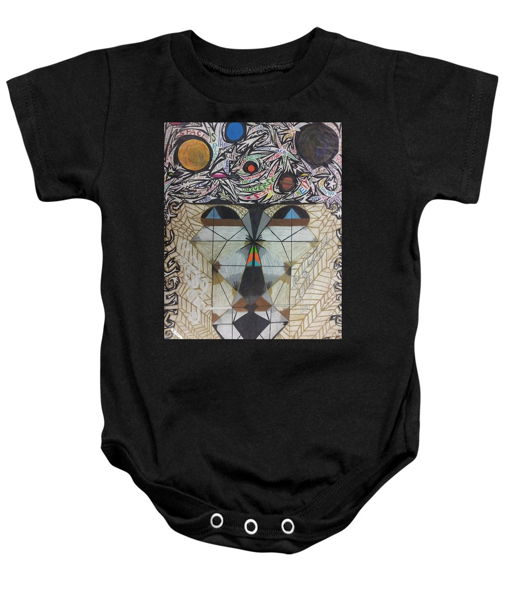 June Tyson(02/05/36-11/24/92)singer&dancer Achieved Prominence With Keyboardist&bandleader Sun Ra.joined Sun Ra's Arkestra 1968 Baby Onesie featuring the drawing Portrait Of June Tyson. by William Douglas