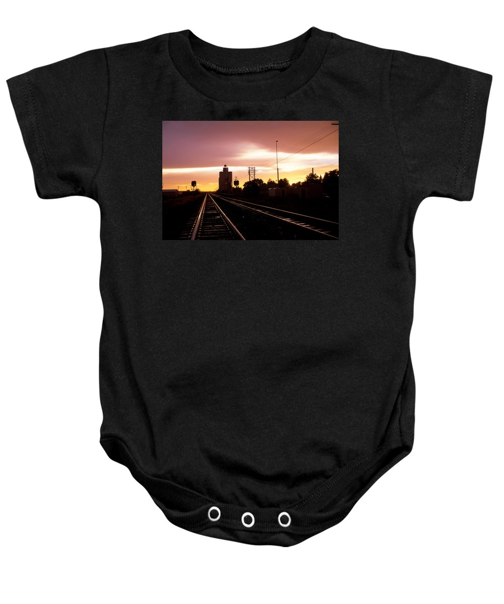 Potter Baby Onesie featuring the photograph Potter Tracks by Jerry McElroy