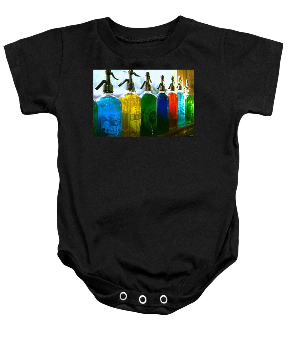 Food And Beverage Baby Onesie featuring the photograph Pour Me A Rainbow by Holly Kempe