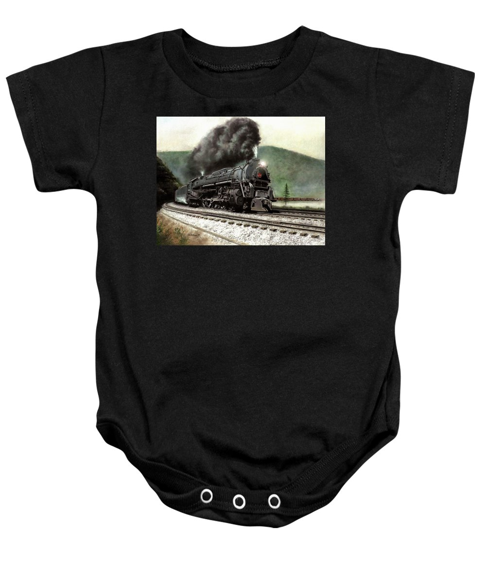 Baby Onesie featuring the painting Power On The Curve by David Mittner