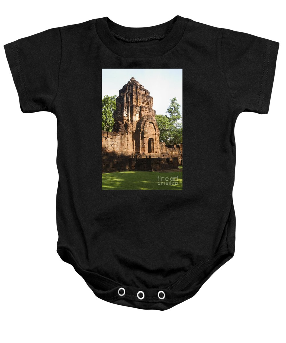 Ancient Baby Onesie featuring the photograph Prasat Muang Singh Historical Park by Bill Brennan - Printscapes