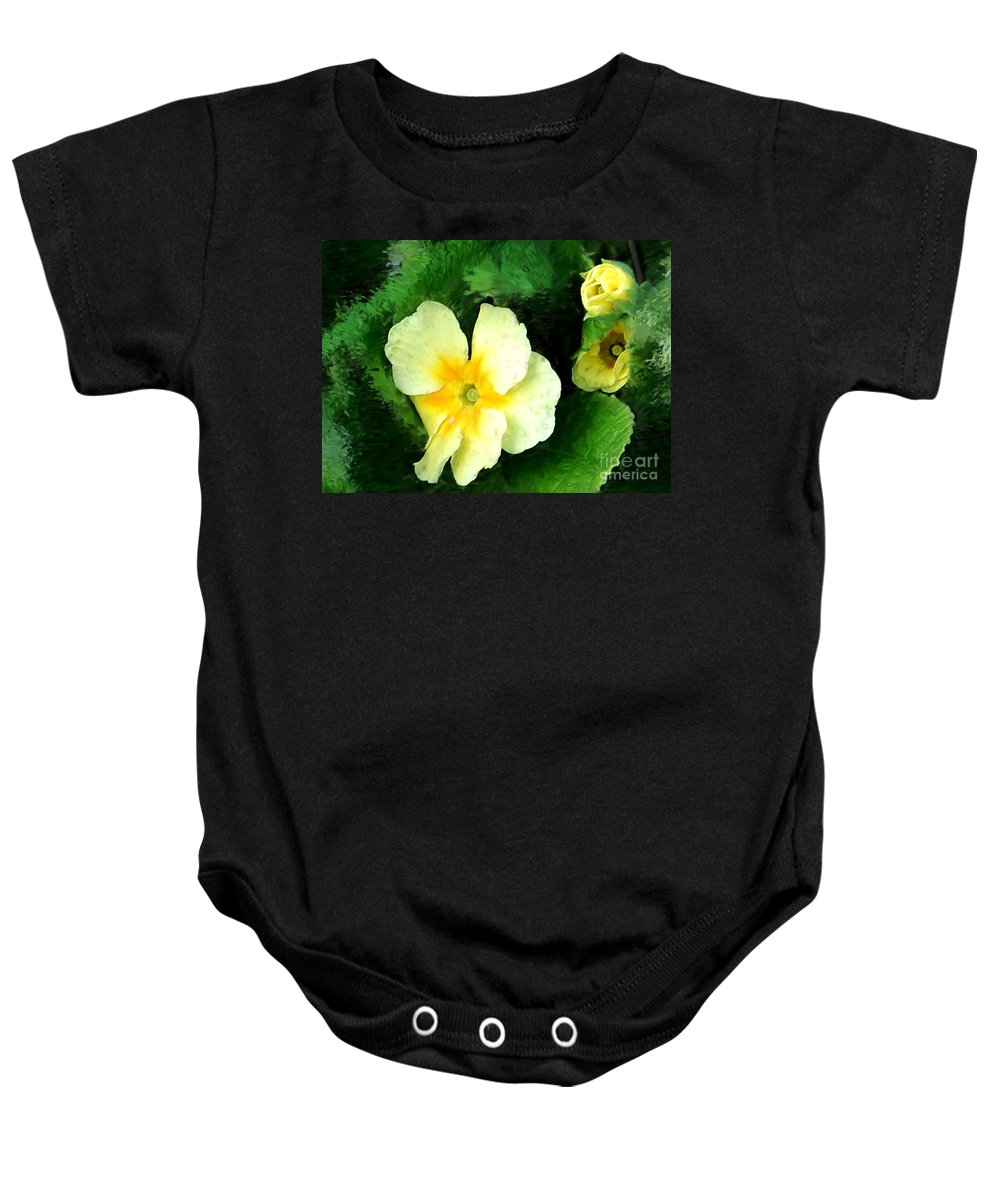 Digital Photograph Baby Onesie featuring the photograph Primrose 2 by David Lane