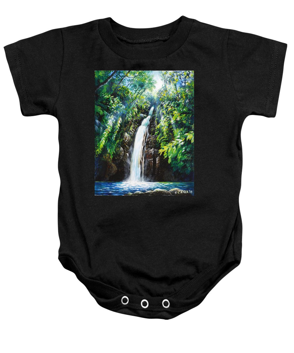 Chris Cox Baby Onesie featuring the painting Pristine by Christopher Cox