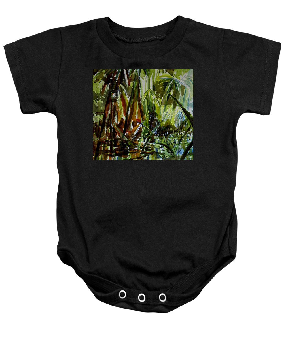 Framed Prints Baby Onesie featuring the painting Pristine Waters by Julianne Felton