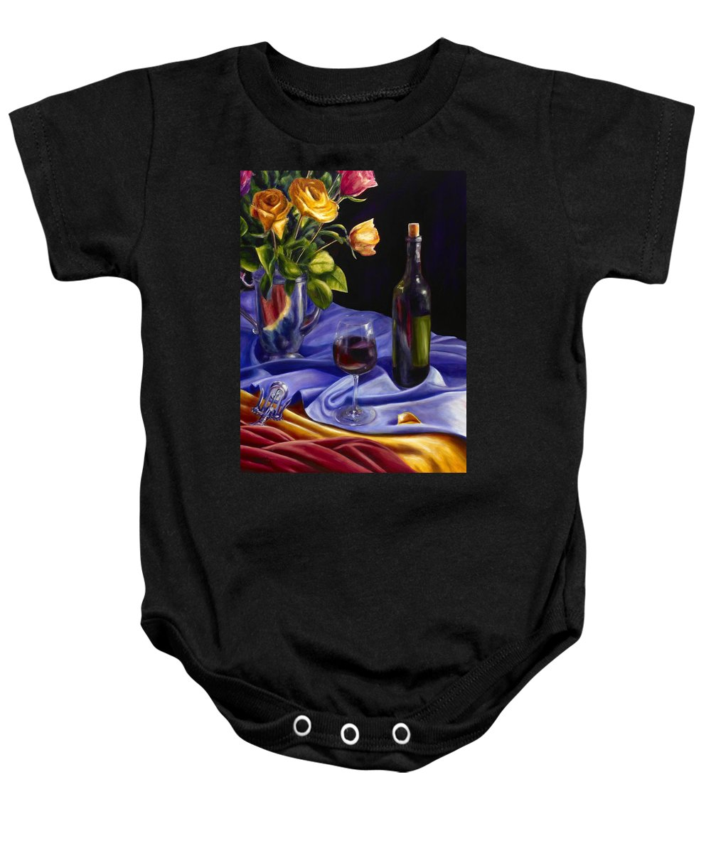 Still Life Baby Onesie featuring the painting Private Label by Shannon Grissom