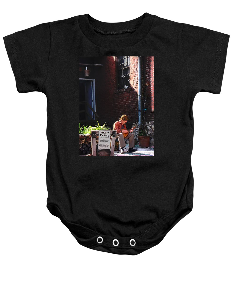 City Scape Baby Onesie featuring the photograph Private Parking by Steve Karol
