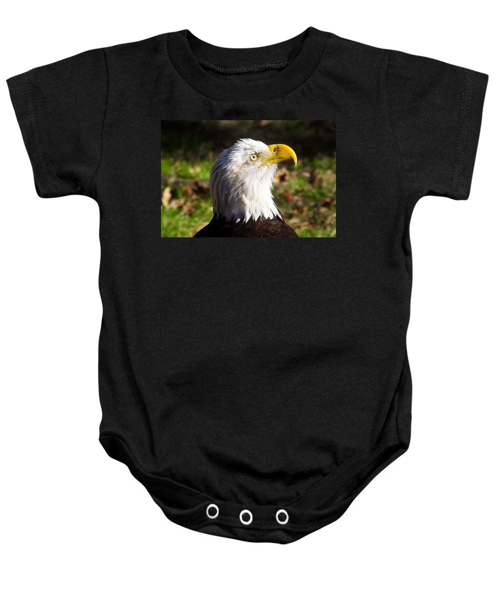 American Bald Eagle Baby Onesie featuring the photograph Proud Eagle by David Lee Thompson