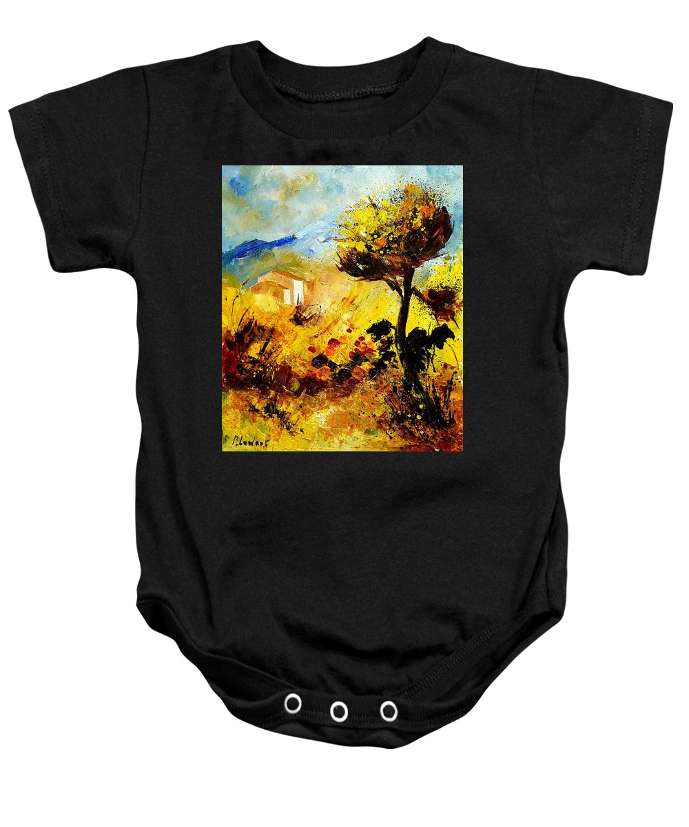 Flowers Baby Onesie featuring the painting Provence 56 by Pol Ledent