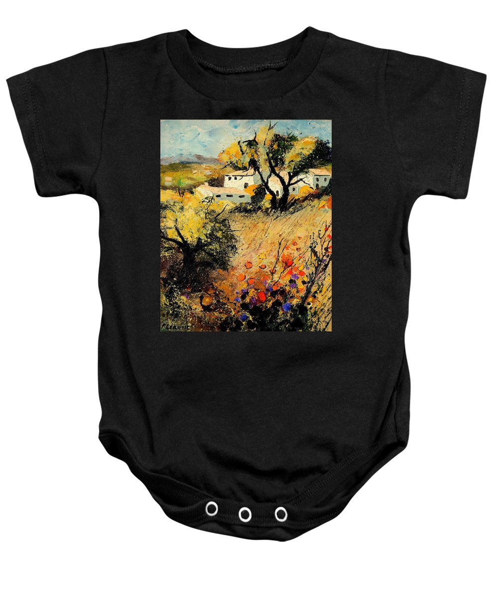 Provence Baby Onesie featuring the painting Provence 56123 by Pol Ledent