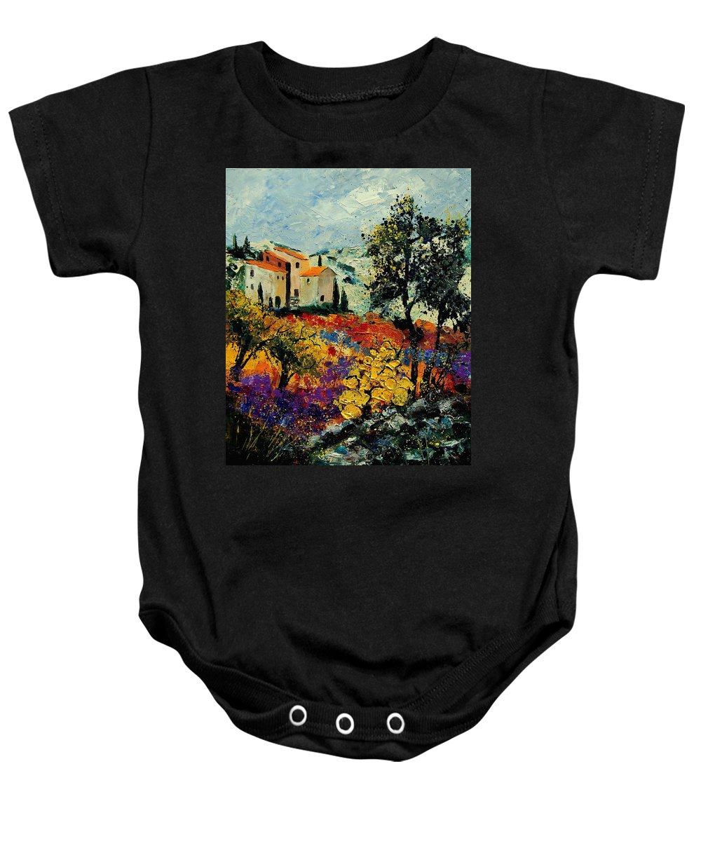 Provence Baby Onesie featuring the painting Provence 56900192 by Pol Ledent