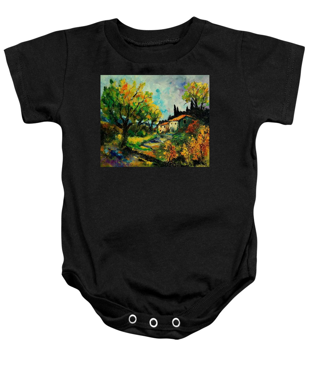 Landscape Baby Onesie featuring the painting Provence 670110 by Pol Ledent