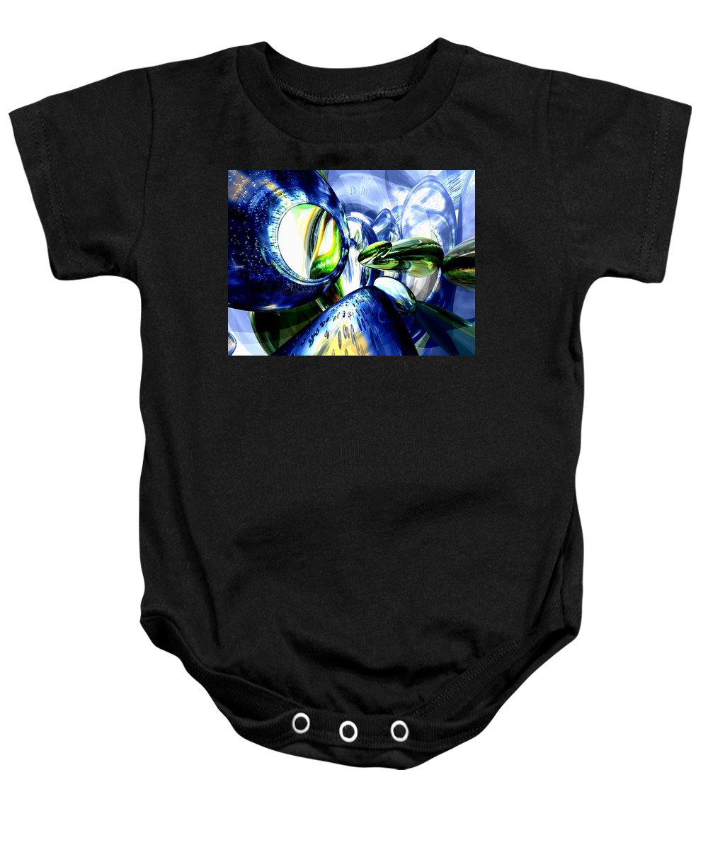3d Baby Onesie featuring the digital art Pulse Of Life Abstract by Alexander Butler