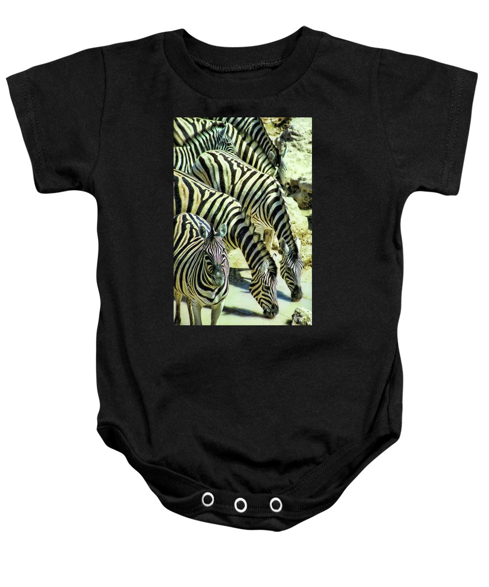 Zebras Baby Onesie featuring the photograph Punda Milia 3 by Douglas Barnard