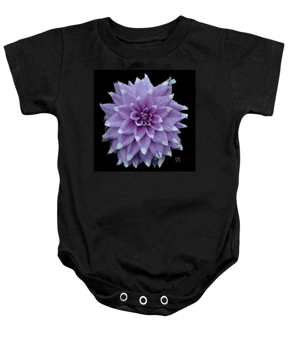 Cutout Baby Onesie featuring the photograph Purple Dahlia Cutout by Shirley Heyn