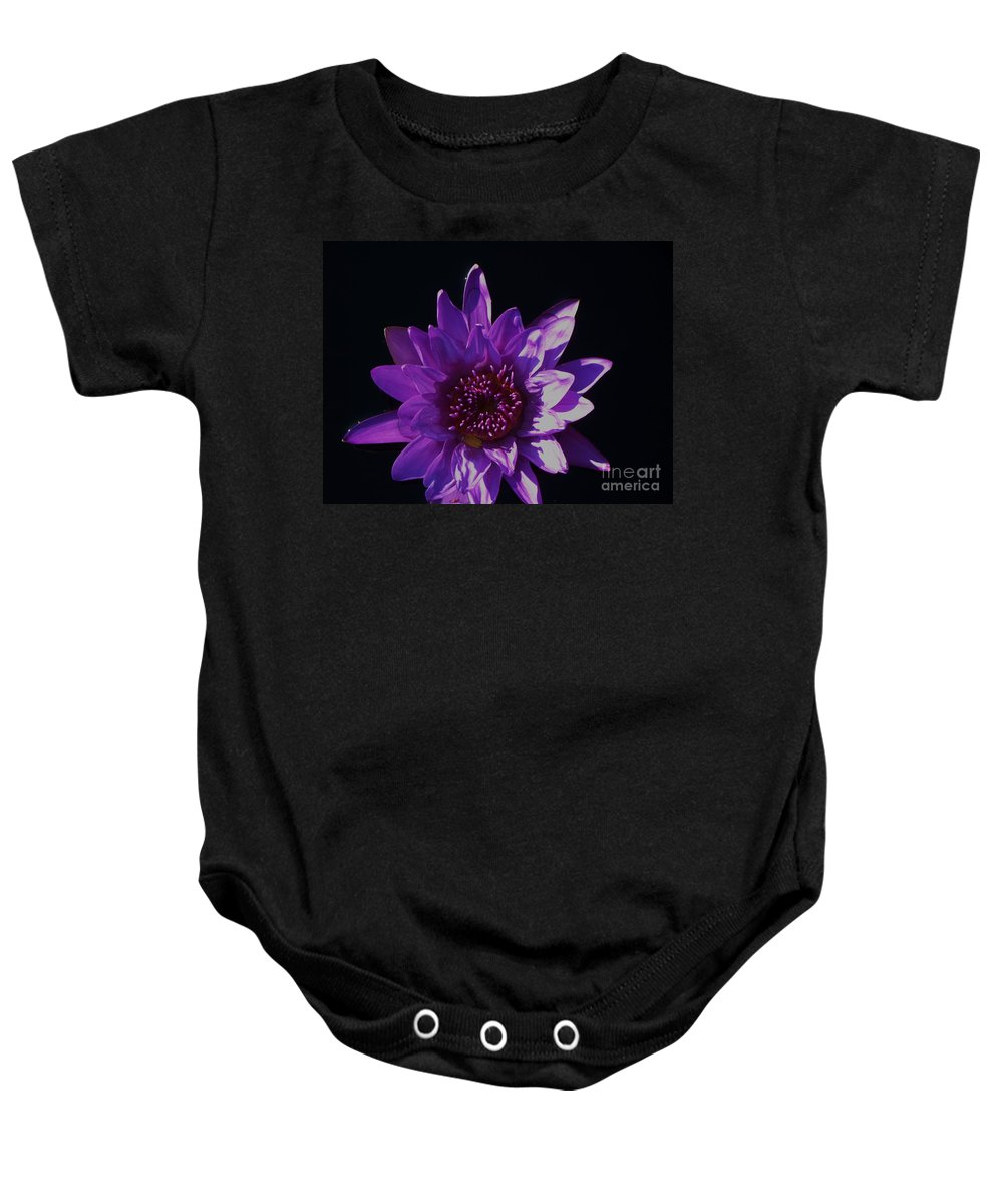 Photograph Baby Onesie featuring the photograph Purple Lily Monet by Eric Schiabor