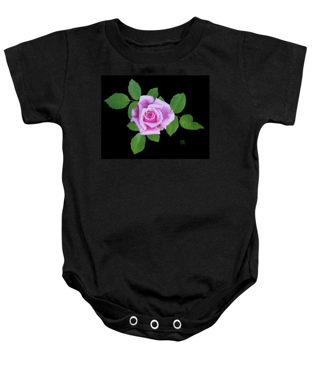 Cutout Baby Onesie featuring the photograph Purple Rosebud2 Cutout by Shirley Heyn
