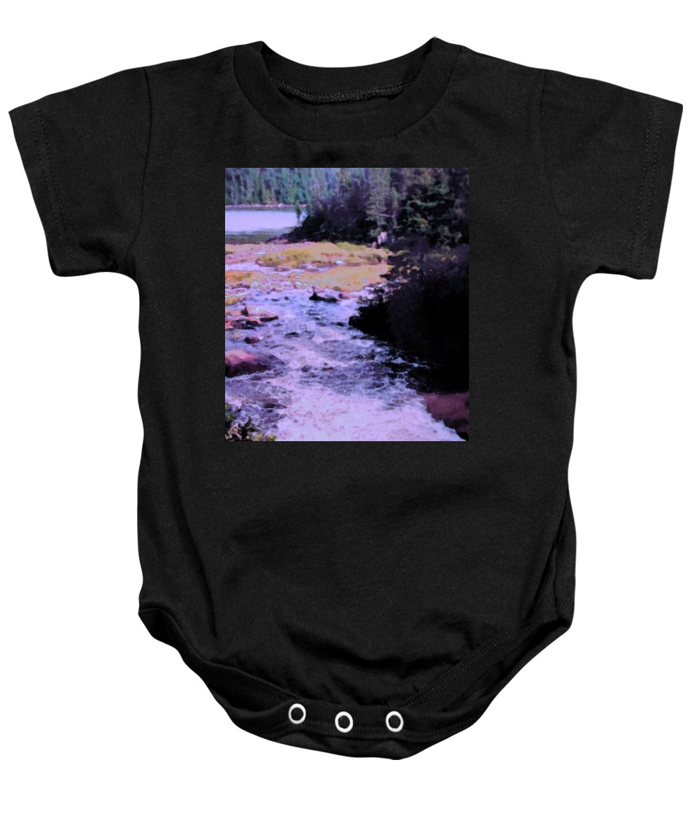 Quebec Baby Onesie featuring the photograph Quebec River by Ian MacDonald