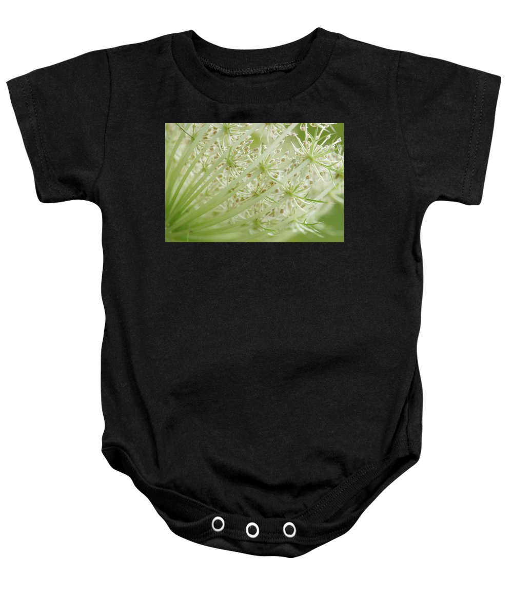 Cindi Ressler Baby Onesie featuring the photograph Queen Anne's Lace by Cindi Ressler