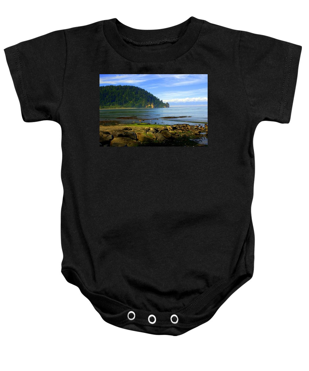 Olympic Baby Onesie featuring the photograph Quiet Bay by Marty Koch