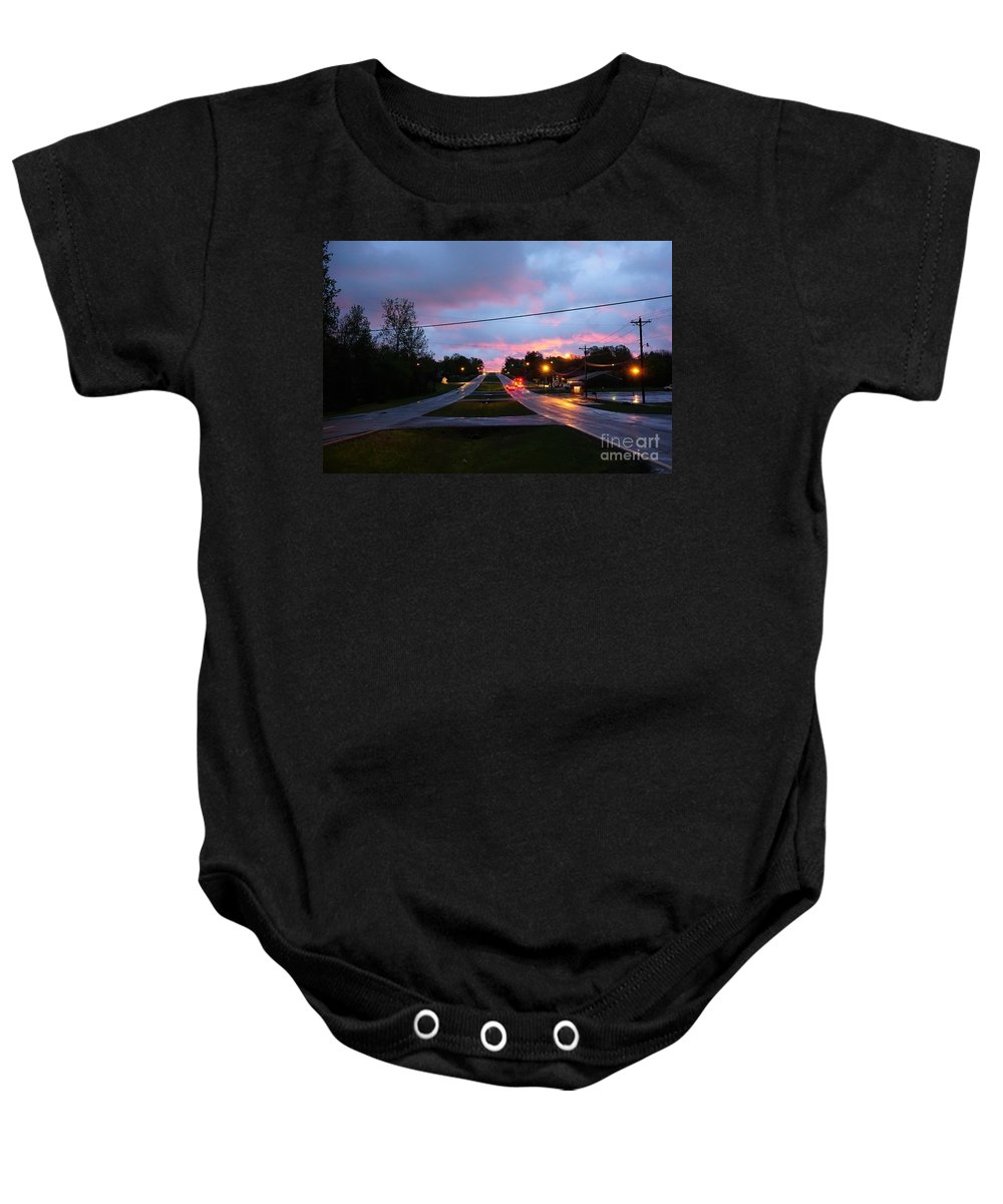 Radcliff Baby Onesie featuring the photograph Radcliff Kentucky Morning by Merle Grenz