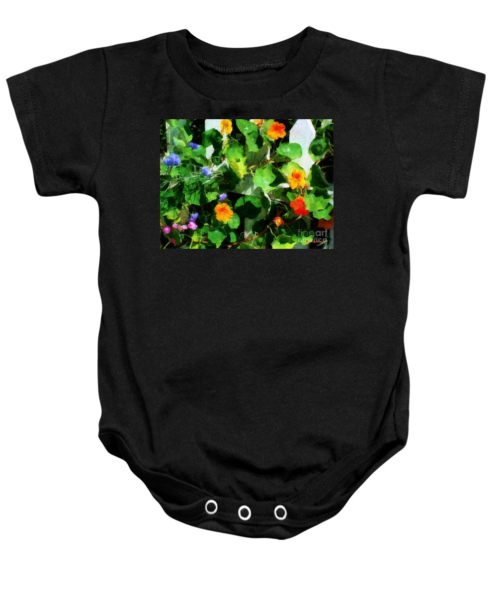 Garden Baby Onesie featuring the painting Rainbow Riot by RC DeWinter
