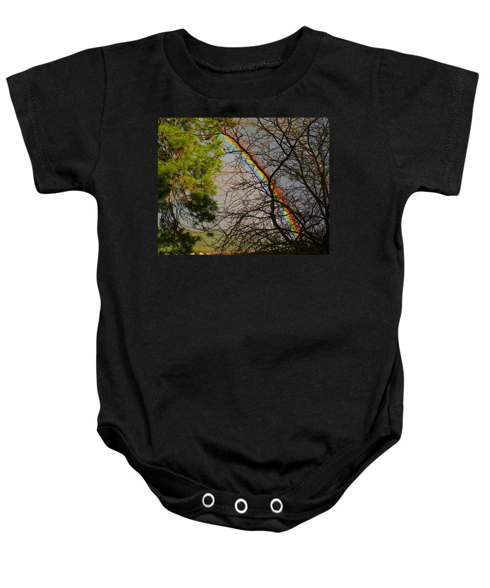 Nature Baby Onesie featuring the photograph Rainbow Tree by Ben Upham III