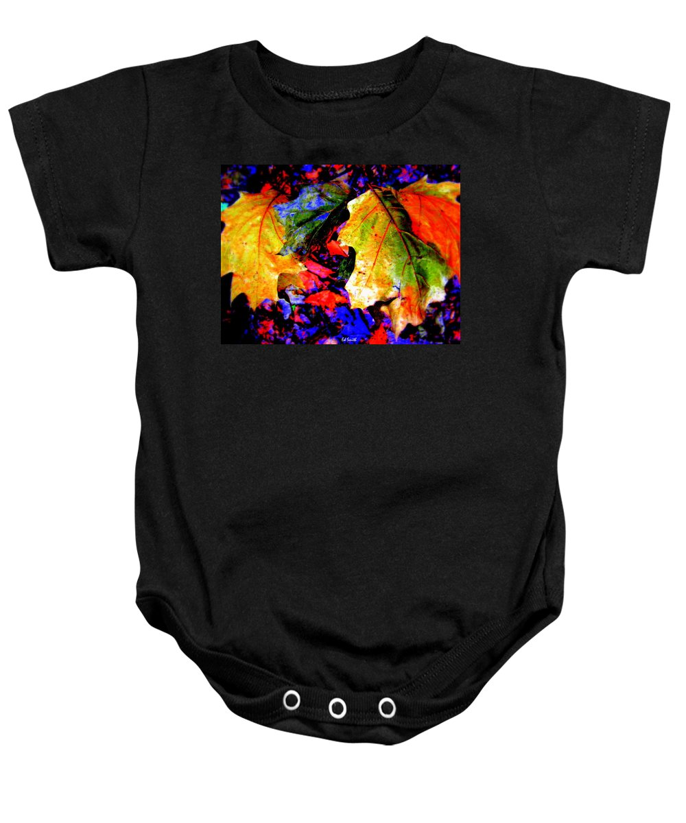 Rainbows Baby Onesie featuring the photograph Rainbows by Ed Smith