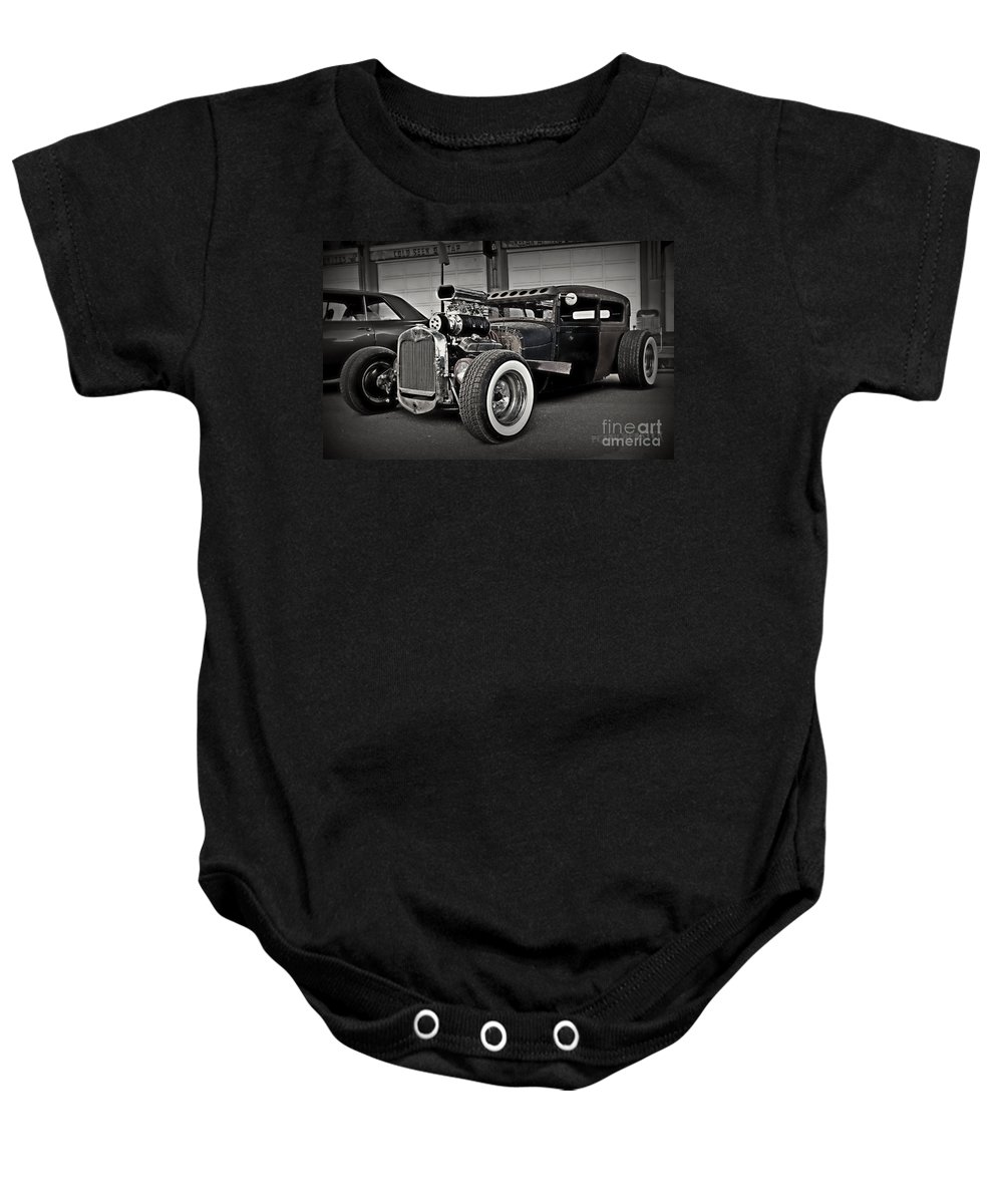 Rat Rod Baby Onesie featuring the photograph Rat Rod Scene 3 by Perry Webster