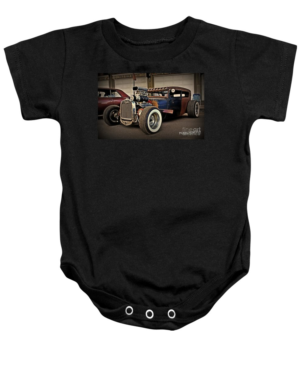 Rat Rod Baby Onesie featuring the photograph Rat Rod Scene by Perry Webster