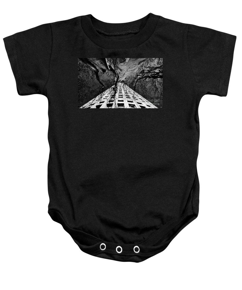 Art Baby Onesie featuring the painting Reaching Up by David Lee Thompson