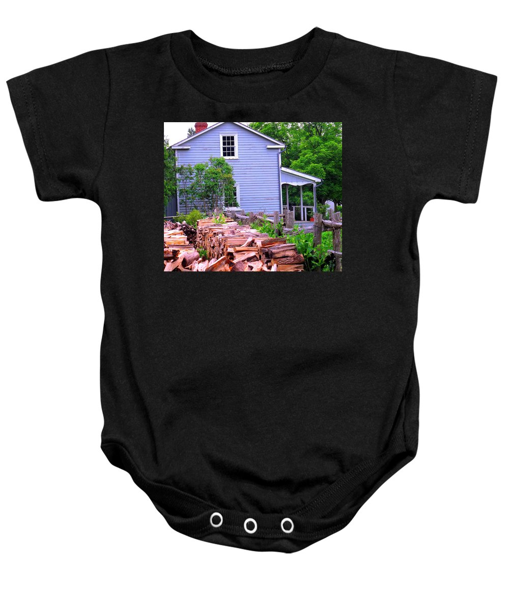 Pioneer Baby Onesie featuring the photograph Ready For Winter by Ian MacDonald