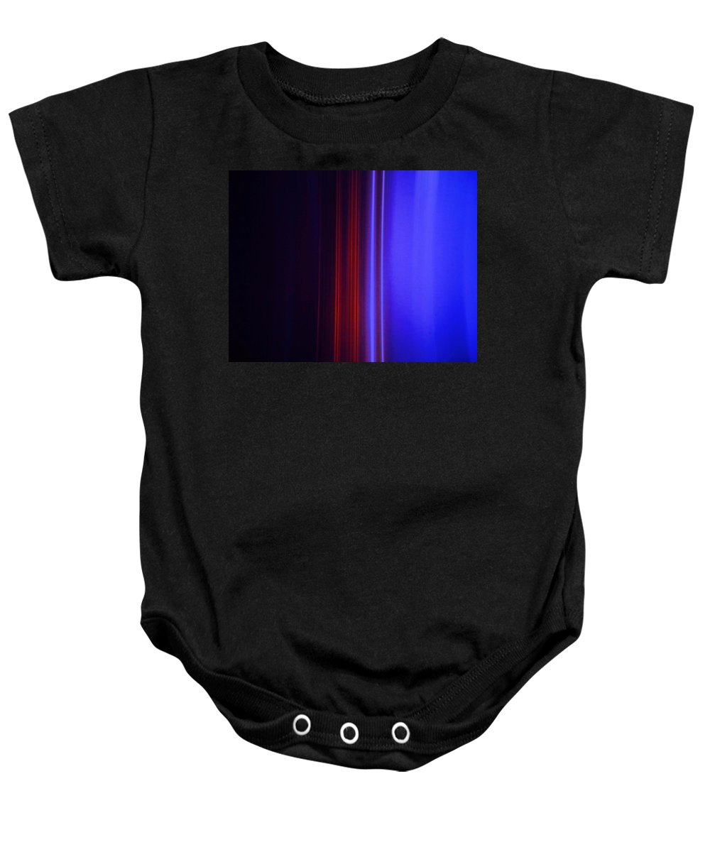 Abstract Blue Baby Onesie featuring the painting Realm Of Color by Eric Schiabor