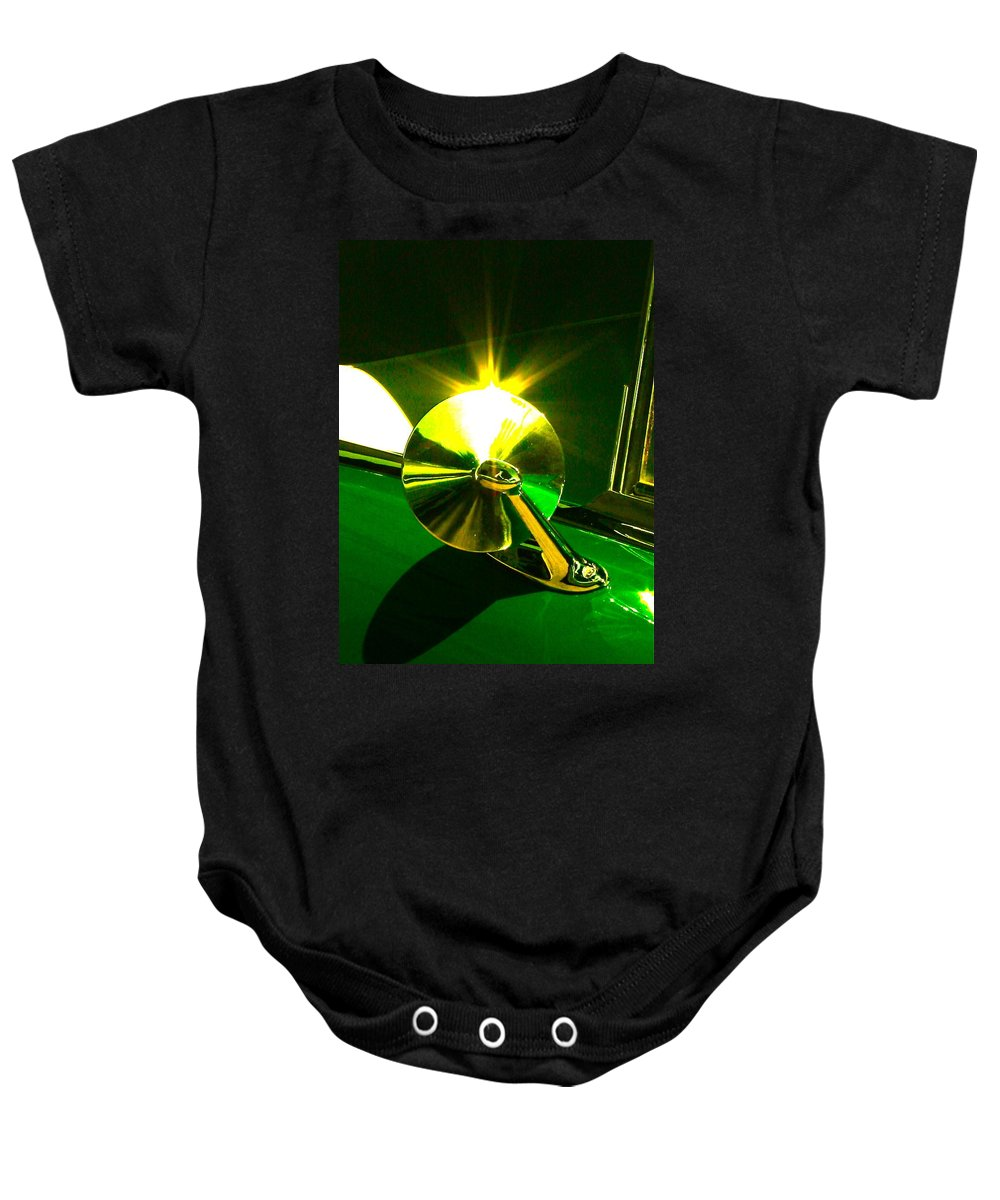 Photograph Of Car Baby Onesie featuring the photograph Rear View by Gwyn Newcombe