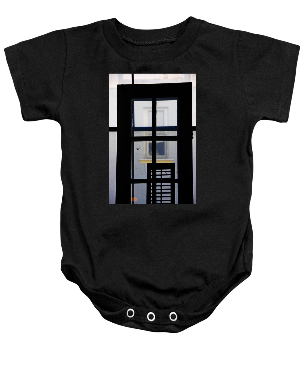 Architecture Baby Onesie featuring the photograph Rear Window 2 by Skip Hunt