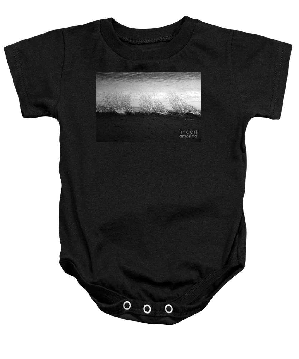 black And White Baby Onesie featuring the photograph Recession by Amanda Barcon