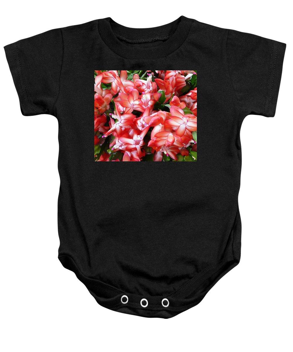 Plant Baby Onesie featuring the photograph Red Abundance by Valerie Ornstein