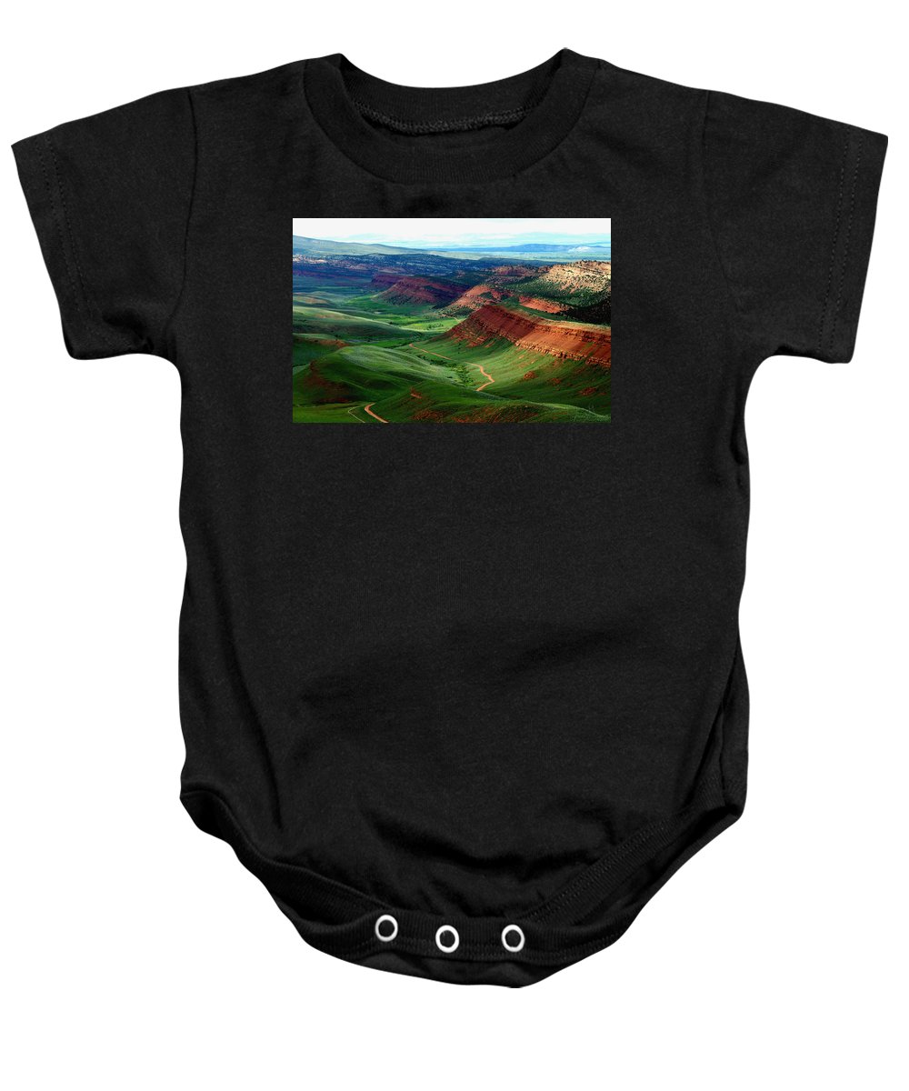 Jenny Gandert Baby Onesie featuring the photograph Red Canyon by Jenny Gandert