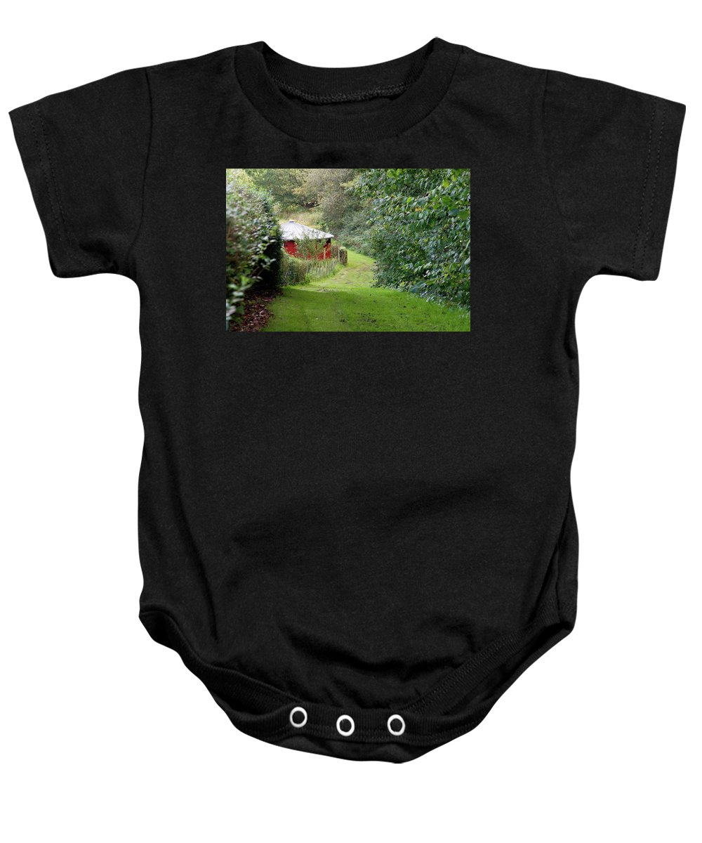 Red Baby Onesie featuring the photograph Red Cistern by Bernard Barcos