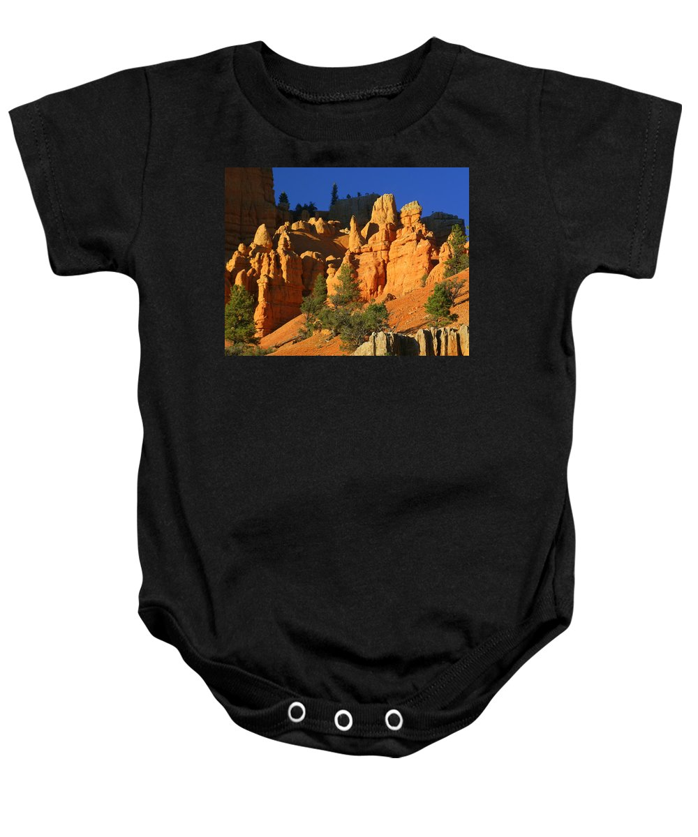 Red Rock Canyon Baby Onesie featuring the photograph Red Rock Canoyon At Sunset by Marty Koch