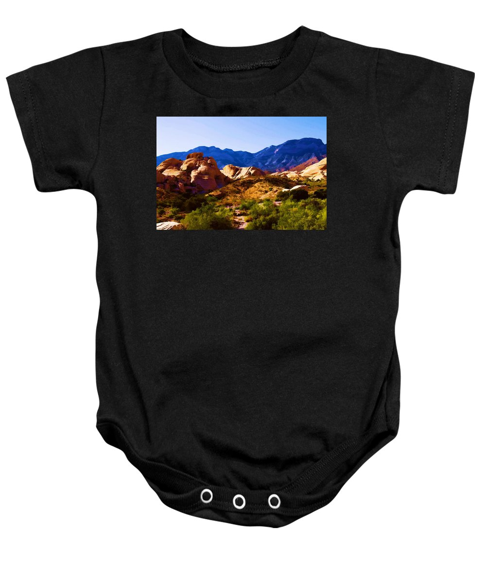 Red Baby Onesie featuring the photograph Red Rock Canyon by Ricky Barnard