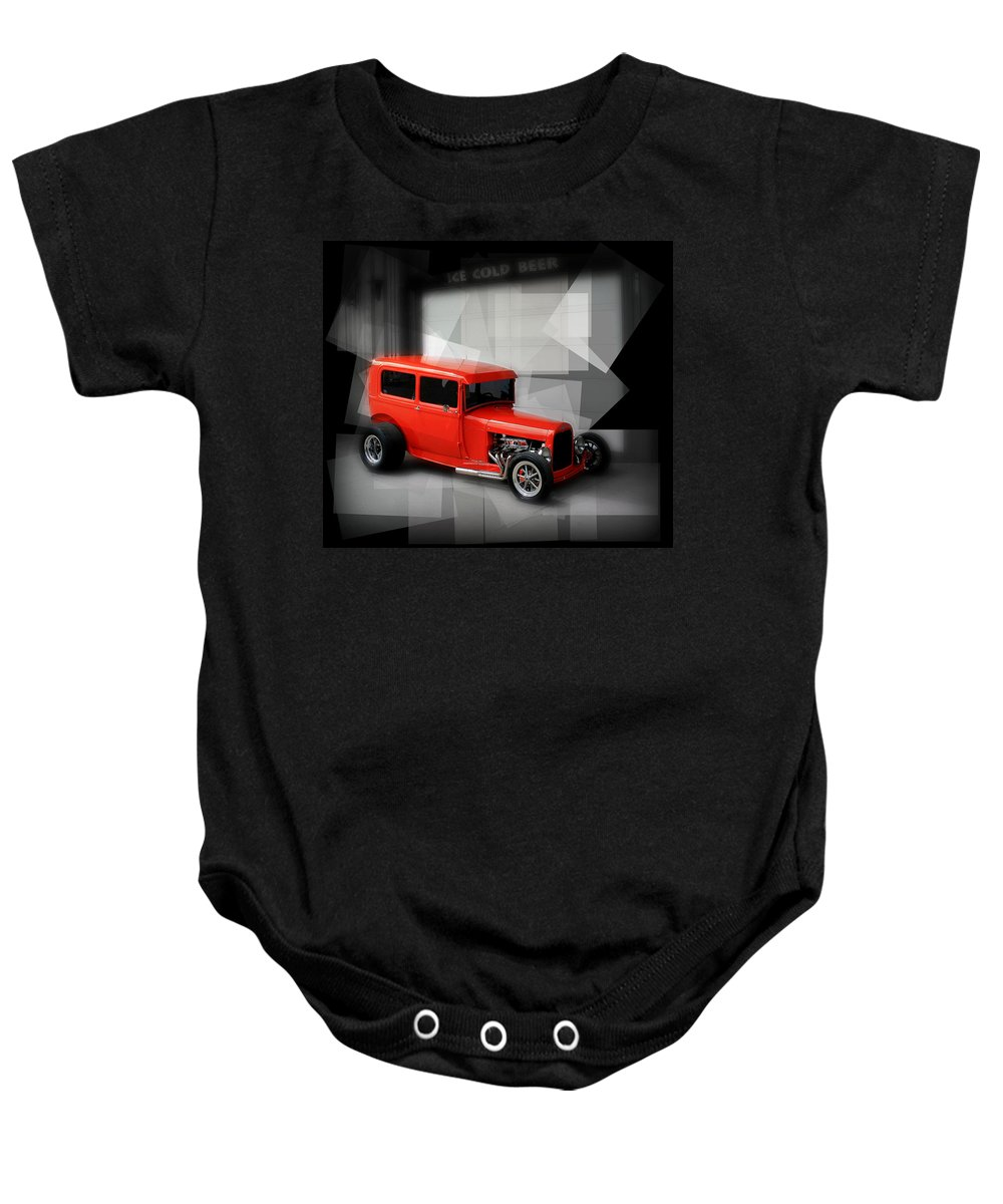 Old Baby Onesie featuring the photograph Red Rod by Perry Webster