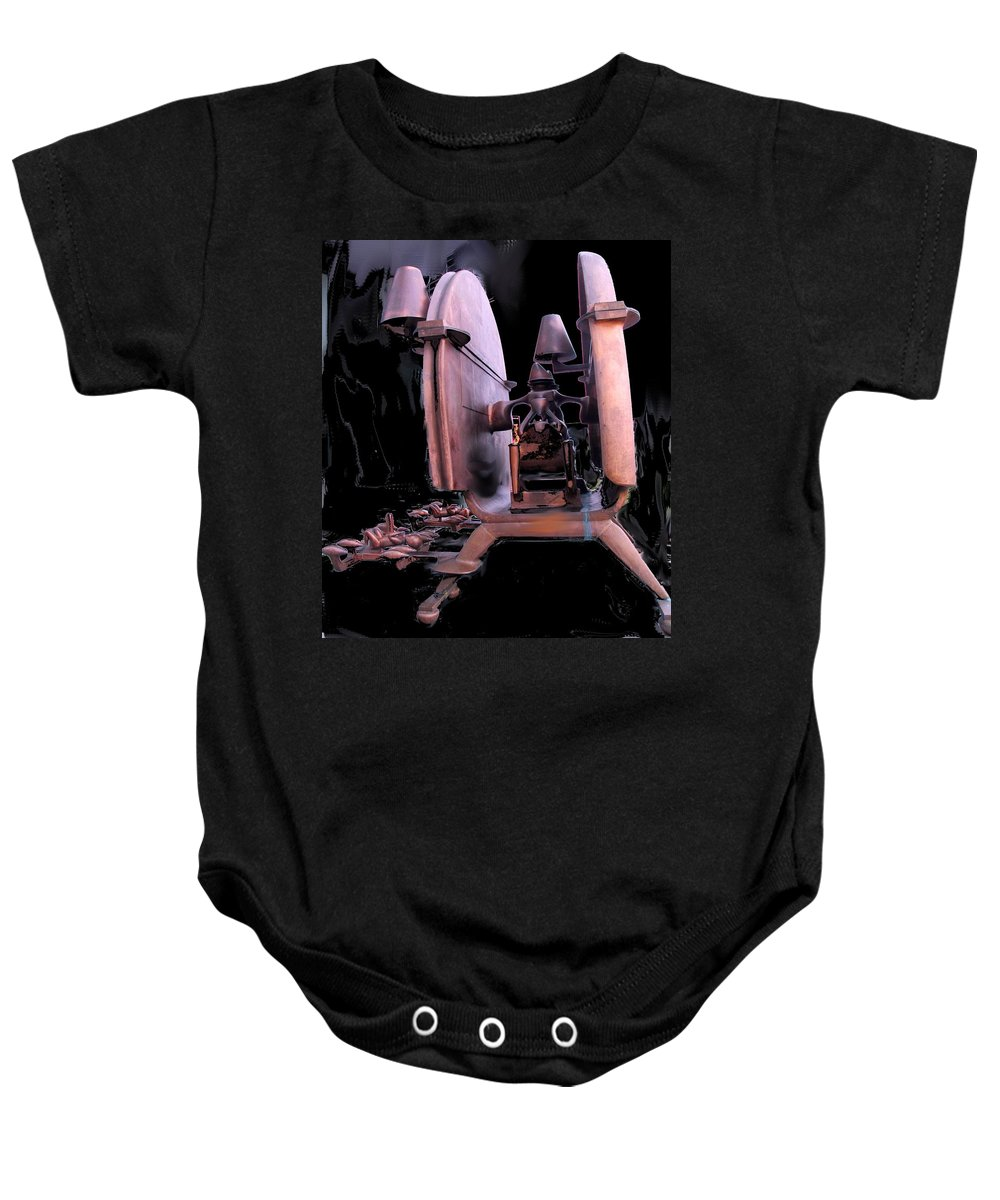 Abstract Baby Onesie featuring the photograph Red Sculpture by Ian MacDonald