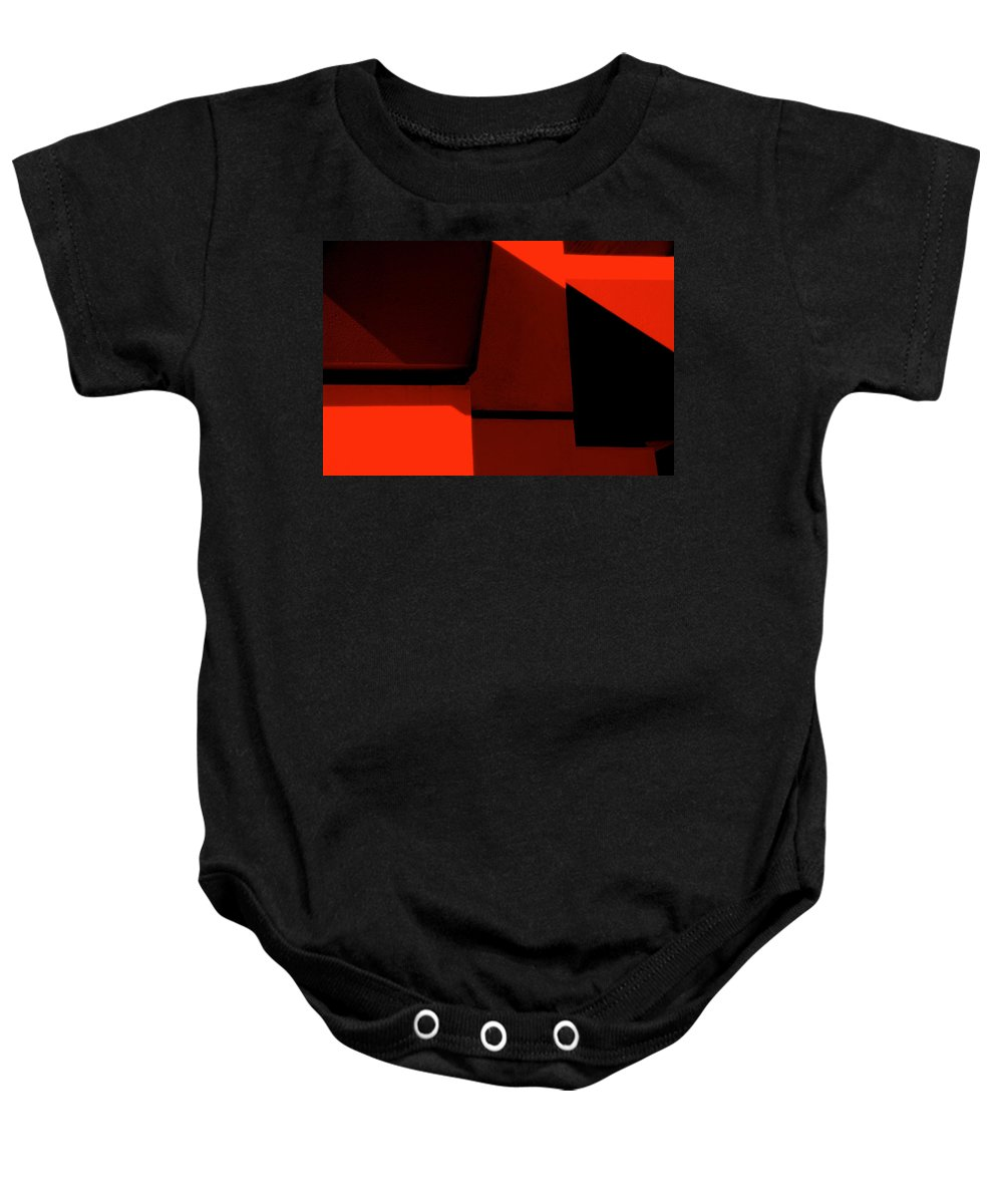 Photography Baby Onesie featuring the photograph RED by Susanne Van Hulst