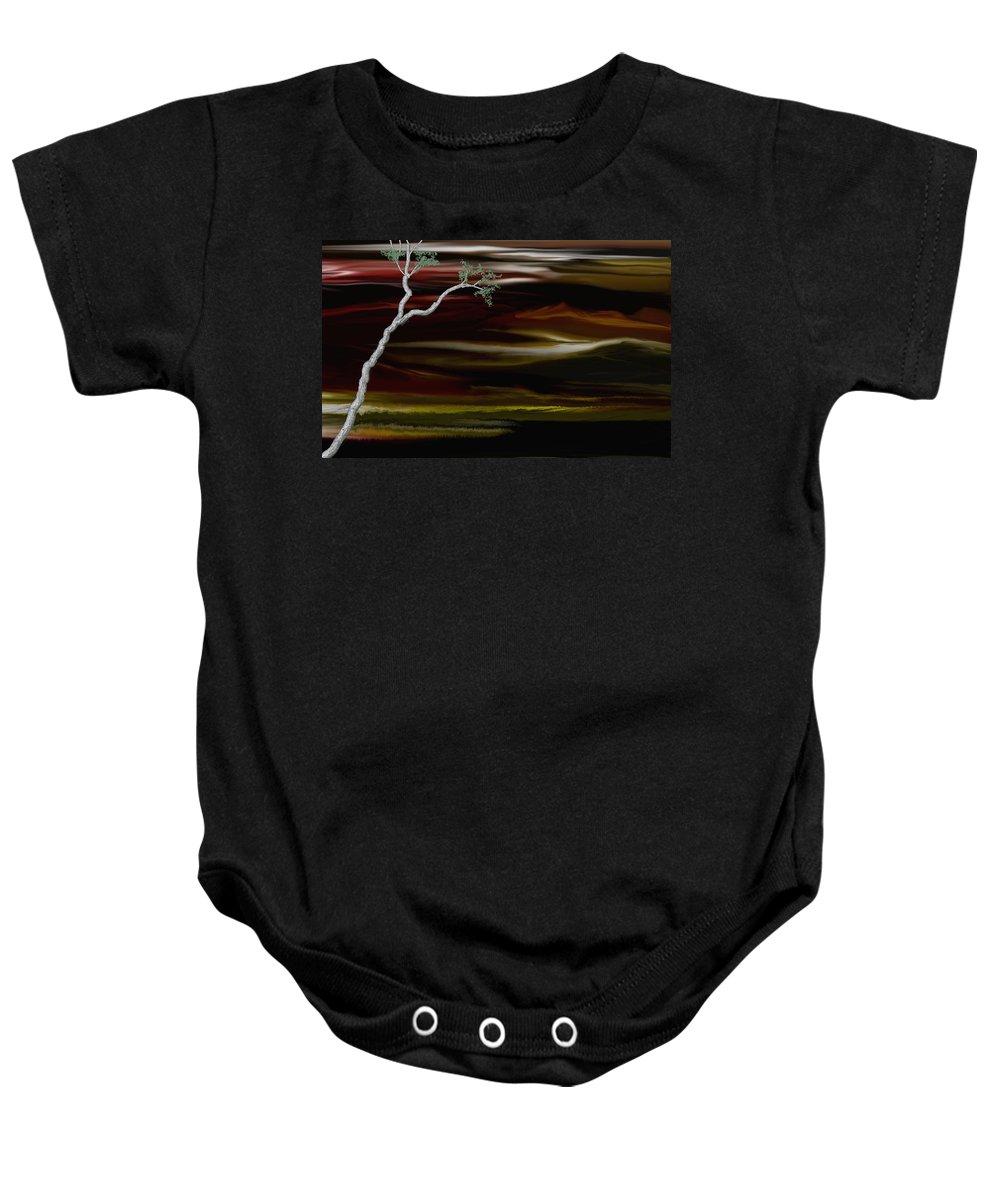 Digital Landscape Baby Onesie featuring the digital art Redscape by David Lane