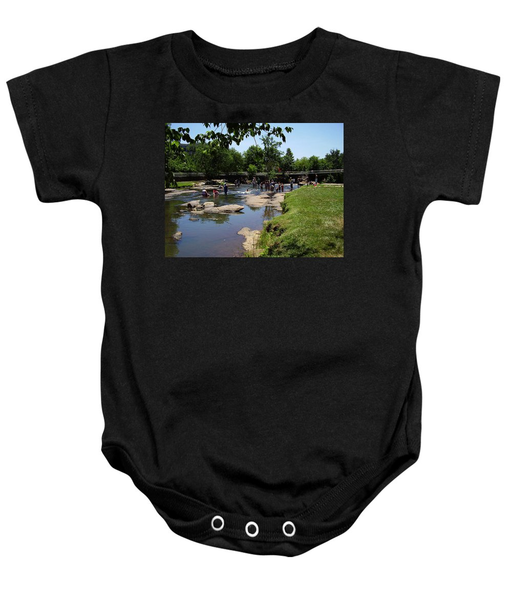 Reedy River Baby Onesie featuring the photograph Reedy River by Flavia Westerwelle